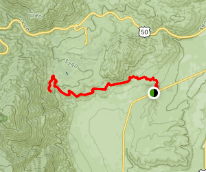 Clear Creek to Bennett Canyon Map