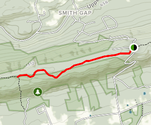 Appalachian Trail: Out and Back from Smith Gap Road Map