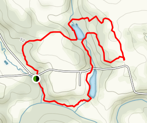 Poplar Grove Trail to White Tail Deer Trail to Red Trail Loop Map