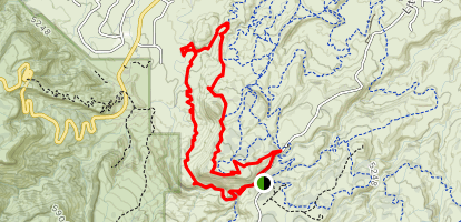 Andy's Trail to Eagle's wing Trail to Lunch Line Loop Map