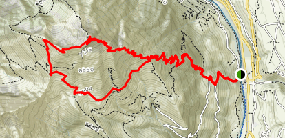 Niesen Bergweg Map