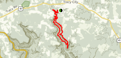 Fiery Gizzard Trail to Raven's Point Map