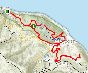 Bull Valley Trail, Carquinez Overlook Loop Trail, Port Costa Trail Loop Map