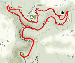 Grundy Day and Fiery Gizzard Loop Trail Map