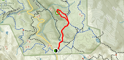 Condor and Prairie Falcon Trails to The Lost Lens Cap Overlook Map