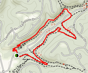 North Upper and South Lower Trails Loop Map