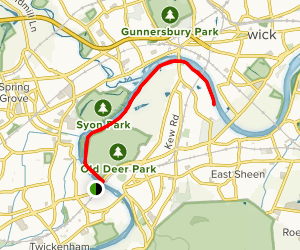 River Thames Pathway Map