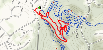 Baker Creek to Sycamore Loop to Floyd Fox Loop Map