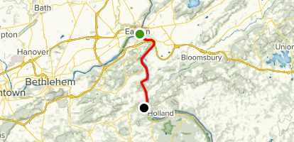 Delaware Canal: Easton to Durham Furance Map