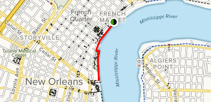 Louisiana New Orleans Map.River Walk Louisiana Alltrails