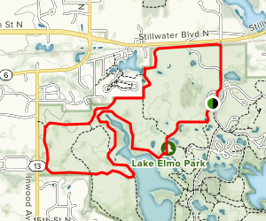 Purple, Red and Blue Trail Loop Map