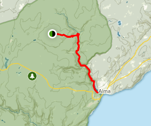 The Forks to Upper Salmon River Trail Map