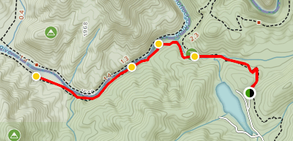 Chattooga Trail from Lick Log and Pig Pen Falls Map