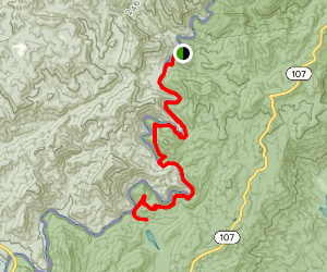 Chattooga Trail to Lick Log Falls from Burrells Ford Campground Map