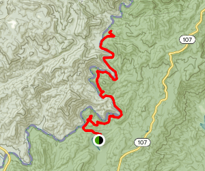 Chattooga Trail to Burrells Ford from Nicholson Ford Road Map