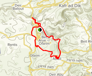 The Village of Aboud Hike Map