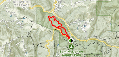 Old Stage Rd to Uncle Man Rd to Youth Camp Trail Map