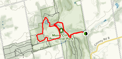 McCarston's Lake Trail via Carriage and Spillway Trails Map