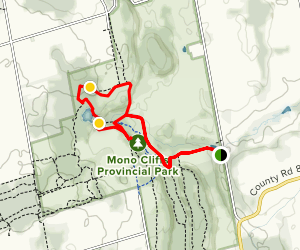 Lookout Side Trail via Spillway Trail Loop Map