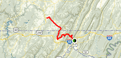 The Great Allegheny Passage: Cumberland to Meyersdale Map