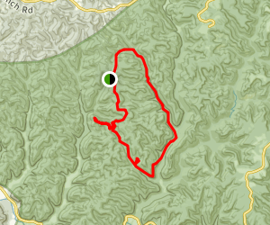 Red River Gorge Hatton Ridge Loop Map