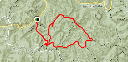 Rough Trail and Gray's Arch Map