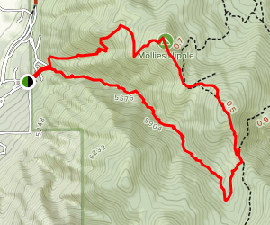 Mollies Nipple and Picayune Canyon Map