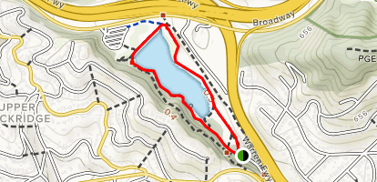 Lake Temescal West Shore and East Shore Loop Trail Map