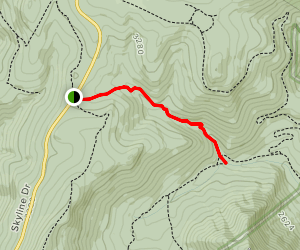 Mill Prong to Rapidan Camp Map