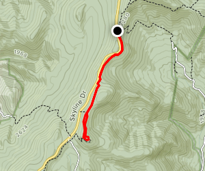 Middle River Road to Bearfence Mountain Map