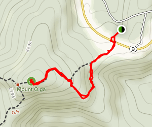 Mount Olga via Tower Trail Map