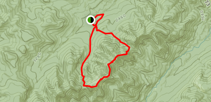 Ore Bed Brook to Wolf Jaw Loop Map