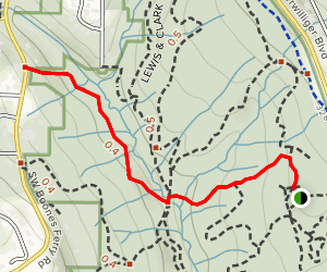 Midddle Creek to North Creek Map