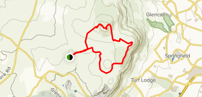 Divis via Ridge Trail Loop  Map
