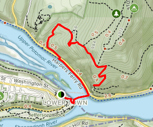 Chesapeake and Ohio Canal Trail to Overlook Cliff Trail Map