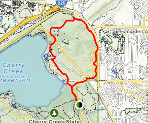 Smoky Hill Trail to Parker Road Trail Loop Map