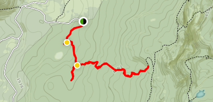 Trail 29: Placid Lake to PCT Map