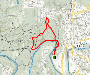 Trace, Yellow and Purple Trail Loop Map
