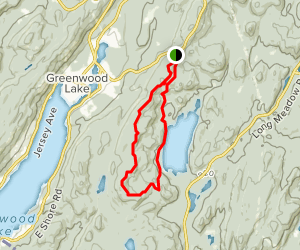 Sterling Ridge, Fire Tower, and Sterling Lake Trails Loop Map