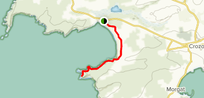 GR34 / Coastal Trail: Kerloch Beach to Pointe de Dinan Map