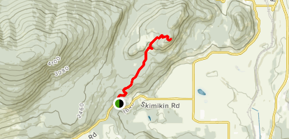 Tappen Bluffs via Trails 40 and 92 Map