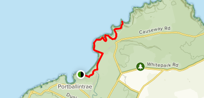 Giant's Causeway via Portballintrae  Map