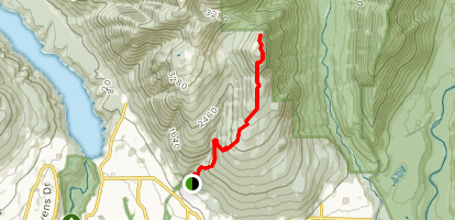 Mount Fromme from Mosquito Creek Map