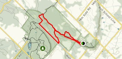 Nassagaweya and Bruce Trail Loop from Rattlesnake Point Map