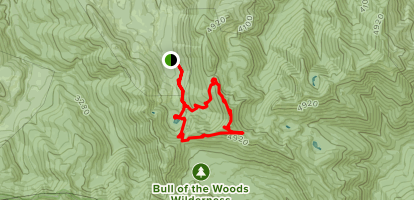 Pansy Lake, Dickey Lake, Bull of the Woods, Mother Lodge, Pansy Lake Loop  Map