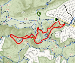 Moonridge Trail, TePee Trail, Eagle Point, Wildwood Canyon, Paradise Falls, Indian Creek Trail Map