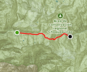 Choquequirao Trek: Segment 5 Map
