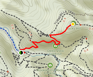 Deep View Lookout and Rocky Hill Map