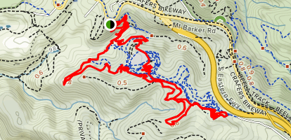 Valley, Blue Gums, Southside, Hawkeye, Fledgling, On the Verge, North Face, Hills Hoist Map