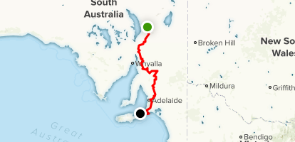 Heysen Trail (North to South) Map